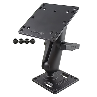 RAM-246-2461U - RAM Double Ball Mount with 75x75mm VESA Plate and 100x100mm VESA Plate
