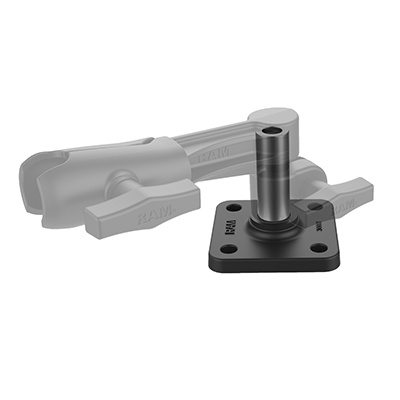 "RAM-304B-HP - RAM Horizontal Mounting Base with 1/2"" NPT Post"