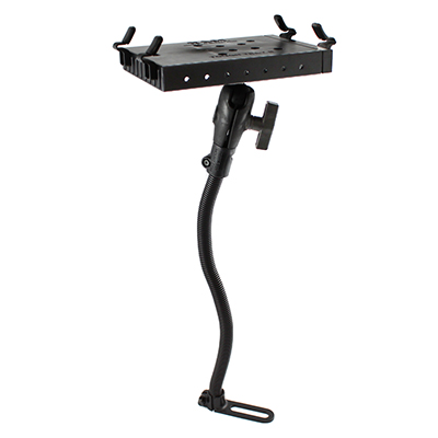 RAM-316-1-234-6U - RAM Tough-Tray II Holder with RAM Pod I Vehicle Mount