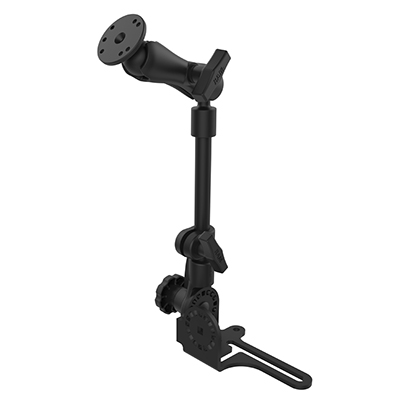 "RAM-316-HD-202U - RAM Pod HD Vehicle Mount with 12"" Aluminum Rod and Round Plate"