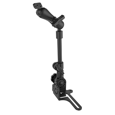 RAM Universal No-Drill™ RAM POD HD Vehicle Mount with Double Socket Arm & Diamond Base (AMPs 2-Hole Pattern)