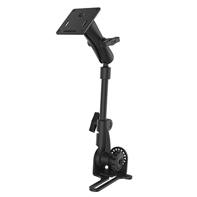 "RAM-316-HD-2461U - RAM Pod HD Vehicle Mount with 12"" Aluminum Rod and 75x75mm VESA Plate"
