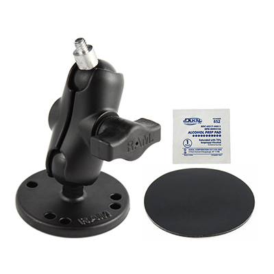 "RAM-B-101-A-237PU - RAM Adhesive Double Ball Mount with 1/4""-20 Threaded Stud"
