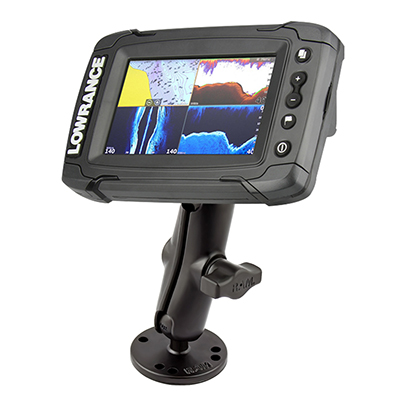RAM-B-101-LO11 - RAM Double Ball Mount for Lowrance Elite-4 & Mark-4 Series