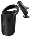 "RAM-B-102-132U - RAM 1"" Ball Mount with Diamond Base, Self-Leveling Cup Holder & Koozie"