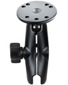 "RAM-B-103U - RAM 1"" Ball Standard Length Double Socket Arm with 2.5"" Round Base that contains the AMPs Hole Pattern"