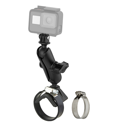 RAM-B-108-GOP1U - RAM Strap Clamp Mount with Universal Action Camera Adapter
