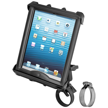 RAM-B-108-TAB8U - RAM Tab-Tite Mount with Strap Hose Clamp for iPad with Case + More
