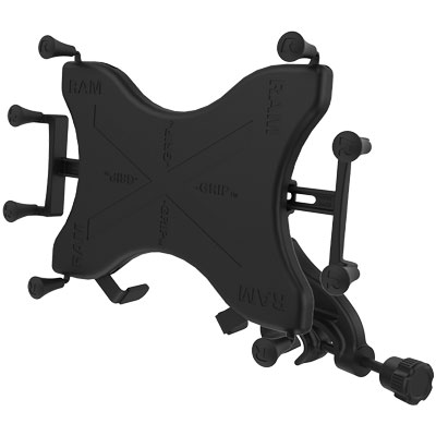 Holder for Small Tablets RAM Yoke Clamp Mount with Universal X-Grip TM