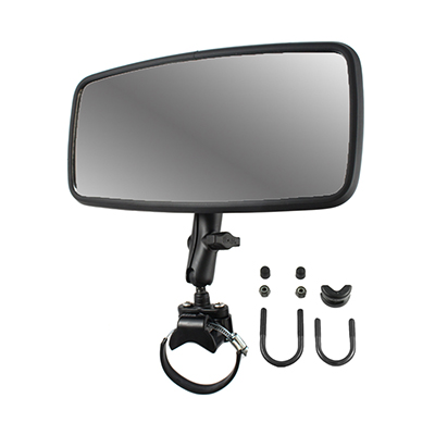 RAM-B-126-231Z-2 - RAM Double Ball Large Rail Mount with Rear View Mirror