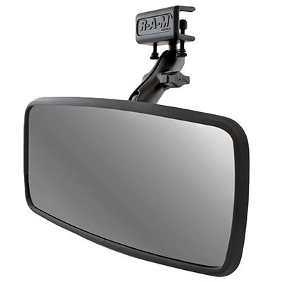 RAM-B-126 - RAM Glare Shield Clamp Mount with Rear View Mirror