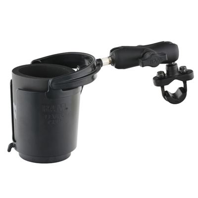 RAM-B-132-1RU - RAM Level Cup 16oz Drink Holder with Handlebar U-Bolt Base