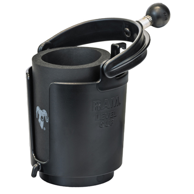 Ram Self Leveling Cup Holder With Koozie Unpackaged Ram
