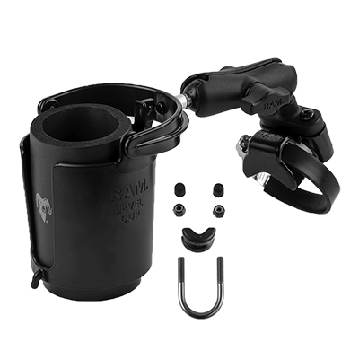 RAM-B-132R-2U - RAM Level Cup 16oz Drink Holder with ATV/UTV Rail Base