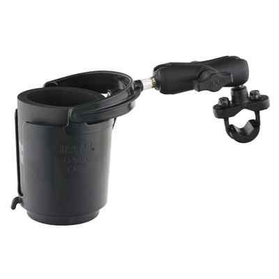 RAM-B-132RU - RAM Level Cup 16oz Drink Holder with Handlebar U-Bolt Base