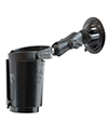 RAM-B-132SU - RAM Twist Lock Suction Cup Mount with Self-Leveling Cup Holder & Koozie