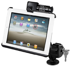RAM-B-138-AP8LU - RAM Drill-Down Mount with RAM Latch-N-Lock for Apple iPad Gen 1 & 2