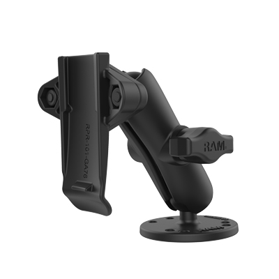 RAM-B-138-GA76U - RAM Drill-Down Mount with Garmin Spine Clip Holder