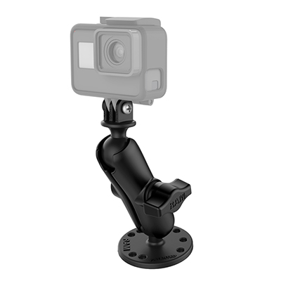RAM-B-138-GOP1U - RAM Drill-Down Mount with Universal Action Camera Adapter