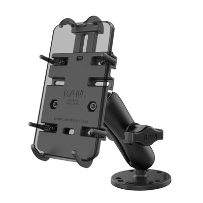 RAM-B-138-PD3U - RAM Quick-Grip Spring-Loaded Phone Mount with Drill-Down Base
