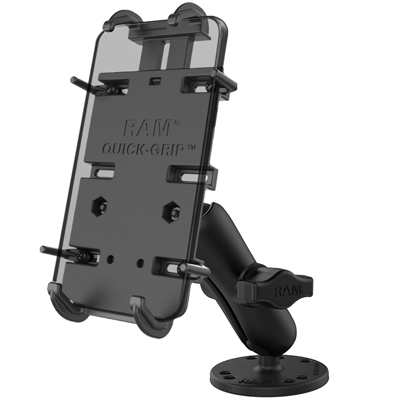 RAM-B-138-PD4U - RAM Quick-Grip XL Spring-Loaded Phone Mount with Drill-Down Base