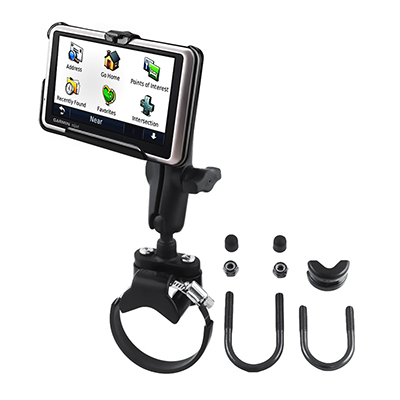 RAM-B-149Z-2-GA34 - RAM ATV/UTV Double Ball Rail Mount for Garmin nuvi 1300 Series + More