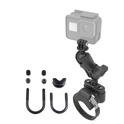 RAM-B-149Z-2-GOP1U - RAM ATV/UTV Handlebar U-Bolt Mount with Action Camera Adapter