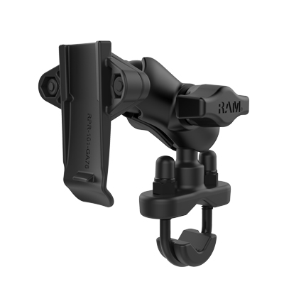 RAM-B-149Z-A-GA76U - RAM Spine Clip Garmin Mount with Handlebar U-Bolt Base