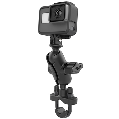 RAM-B-149Z-A-GOP1U - RAM Handlebar U-Bolt Double Ball Mount with Action Camera Adapter