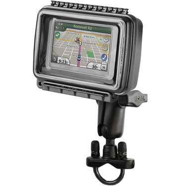 RAM-B-149Z-AQ6U - RAM Aqua Box with Handlebar U-Bolt Mount for Medium-Wide Devices