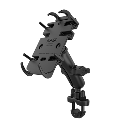 RAM-B-149Z-PD3U - RAM Quick-Grip Phone Mount with Handlebar U-Bolt Base