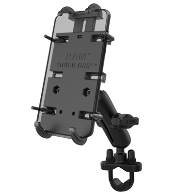 RAM-B-149Z-PD4U - RAM Quick-Grip XL Phone Mount with Handlebar U-Bolt Base