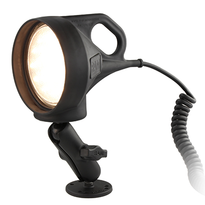 RAM-B-152 - RAM SPOTLIGHT WITH MOUNT & STD. BASE