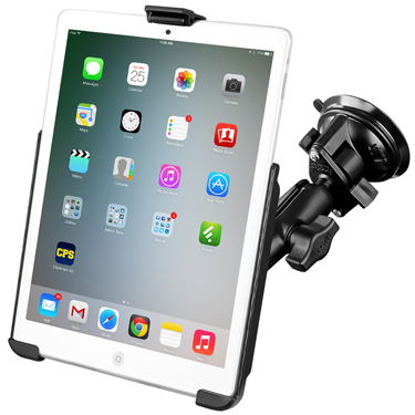 RAM-B-166-AP14U - RAM EZ-Roll'r for iPad mini 1-3 with RAM Twist-Lock Suction Cup