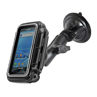RAM-B-166-AQ3U - RAM Aqua Box with Twist-Lock Suction Cup Base for Small Devices