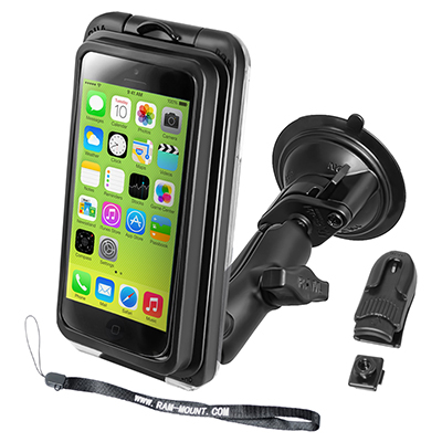 RAM-B-166-AQ7-2-I5 - RAM Aqua Box Pro 20 for iPhone 5 with RAM Twist-Lock Suction Cup