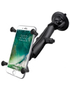RAM-B-166-C-UN10U - RAM Twist Lock Suction Cup Mount with LONG Length Double Socket Arm & Universal X-Grip® (Patented) Large Phone/Phablet Cradle