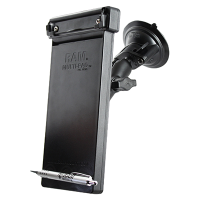 RAM Multi-Pad note-pad holder mounted with a suction cup
