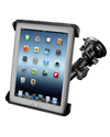 RAM-B-166-TAB3U - RAM Twist Lock Suction Cup Mount with Tab-Tite™ Universal Spring Loaded Cradle for the Apple iPad 1-4 WITH OR WITHOUT LIGHT DUTY CASE
