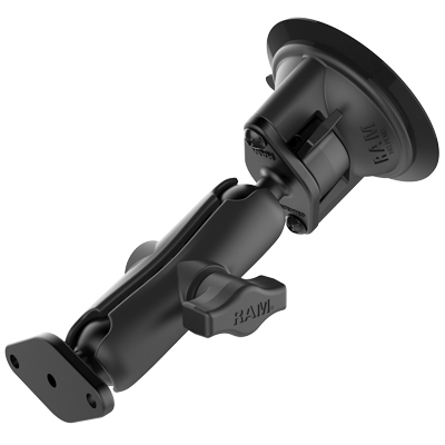 RAM-B-166U - RAM Twist-Lock Suction Cup Double Ball Mount