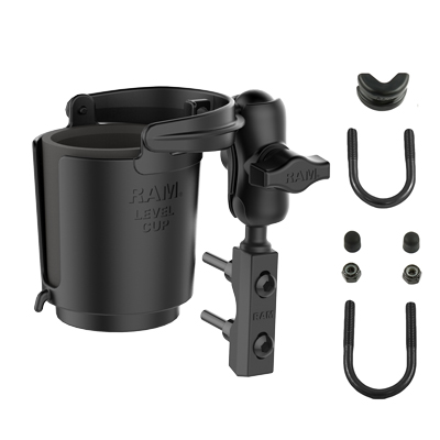 RAM-B-174-A-132U - RAM Level Cup 16oz Drink Holder with Brake/Clutch Reservoir Base
