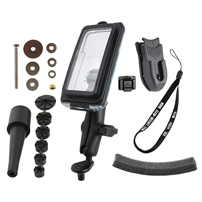 RAM-B-176-AQ7-2-I5C - RAM Aqua Box Pro 20 for iPhone 5 with Motorcyle Fork Stem Base