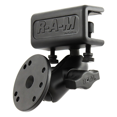 RAM-B-177-202U - RAM Glare Shield Clamp Double Ball Mount with Round Plate
