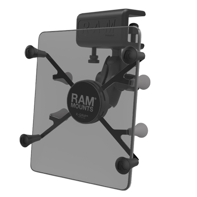 "RAM-B-177-UN8U - RAM X-Grip Mount with Glare Shield Clamp Base for 7""-8"" Tablets"