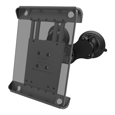RAM-B-189-A-TAB3U-CRS1 - RAM Tab-Tite Mount with RAM Twist-Lock Dual Suction for iPad Gen 1-4