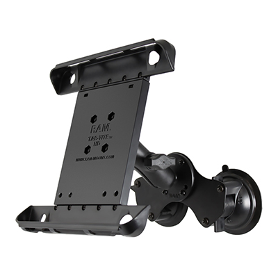 RAM-B-189-TAB3U - RAM Tab-Tite with RAM Twist-Lock Dual Suction for iPad Gen 1-4