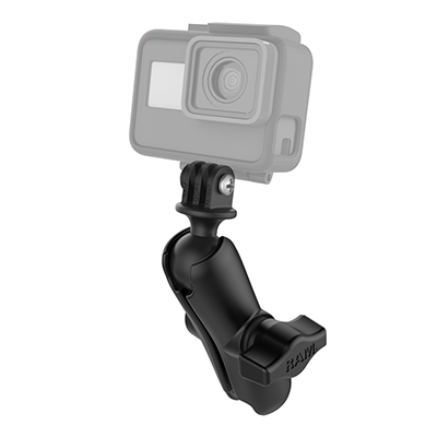 RAM-B-202-GOP1-201U - RAM Double Socket Arm with Universal Action Camera Adapter