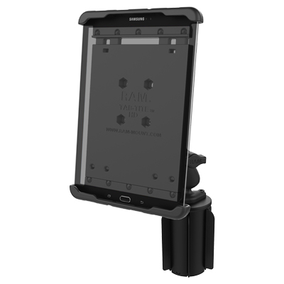 ram cup holder mount with tabtite tablet holder for samsung galaxy s2 80 - Tablet Mount