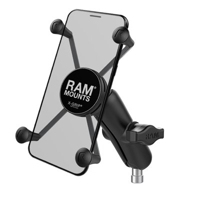 RAM-B-367-UN10U - RAM X-Grip Large Phone Mount with Motorcycle Handlebar Clamp Base