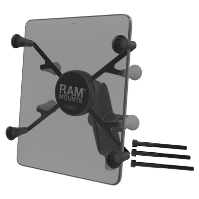 "RAM-B-367-UN8U - RAM X-Grip with Motorcycle Handlebar Clamp Base for 7""-8"" Tablets"